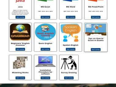 E-learning Web portal