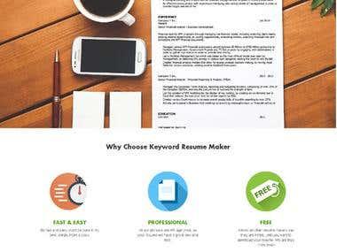Keyword Resume Maker