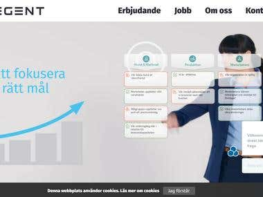 Corporate website for a Swedish IT company
