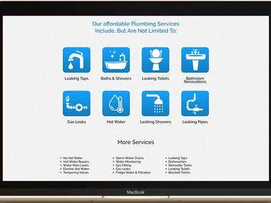 Landing Page For a Plumbing Service
