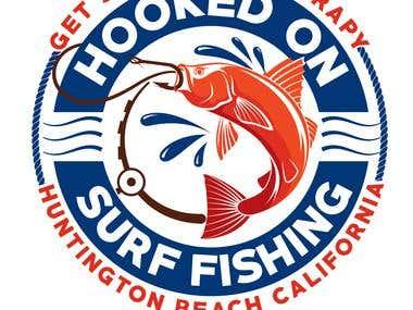 Fishing company logo.