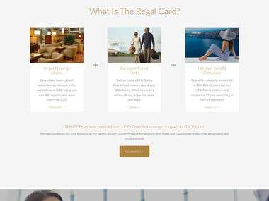Regal Card Travel website