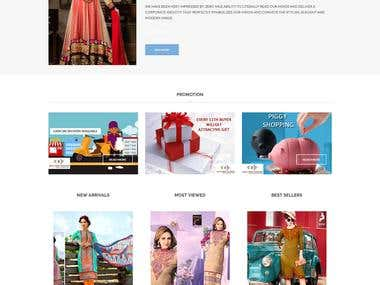 Online shopping portal using wordpress: ZeromileFaishion.com