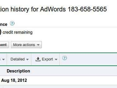 Google Adwords Job