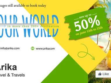 Arika tours and travels ad banner