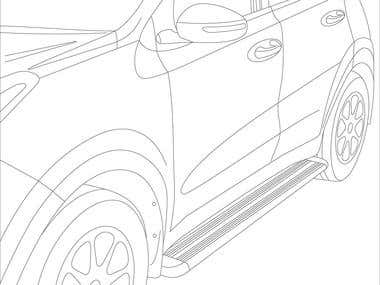 Line art KIA instruction