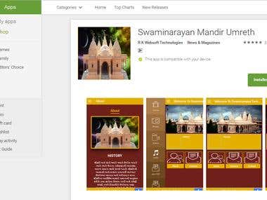 Temple Website and android and ios App