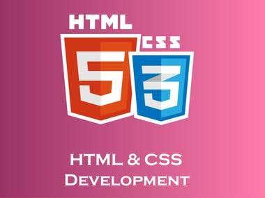 HTML & CSS development