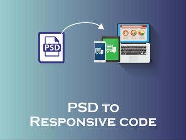PSD to responsive code