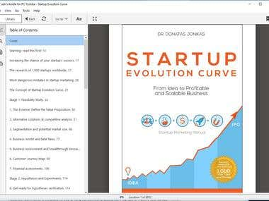 Kindle eBook-Startup Evolution Curve by dr.Donatas Jonikas