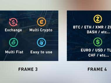 Banner Design for Cryptocurrencie Exchange