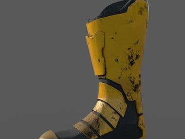 Boot modeling and texturing