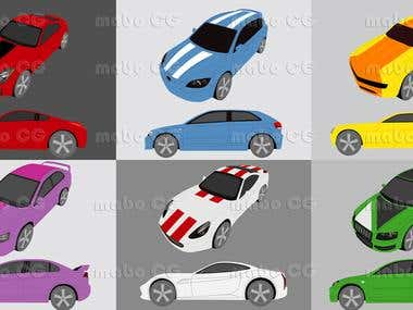 Vector cars samples