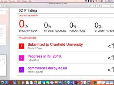 0% plag in 3D printing case study and complete report.