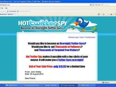 create software for http://www.hottwitterspy.com