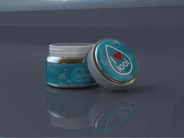 Skincare cream 3d visualisation
