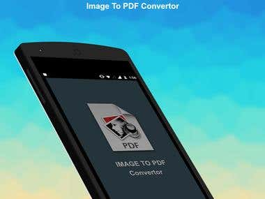 Image to PDF Convertor Android App
