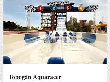 Aguamania.com mobile site