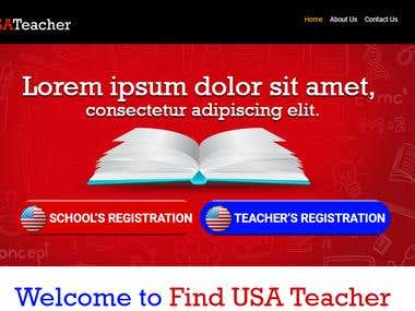 Teacher Finding portal for USA