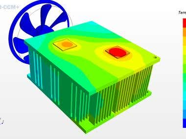 Thermal Analysis of a Heat Sink
