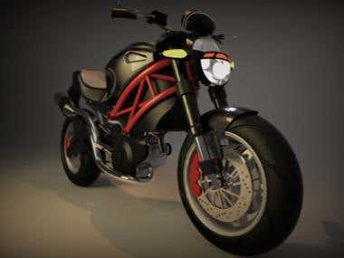 motor cycle modeling by solidworks