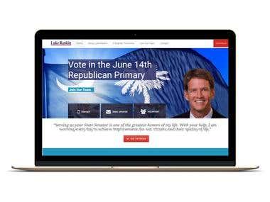 Website for State Senator of South Carolina