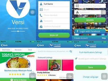Versi iPhone & Android App with WebServices (API)