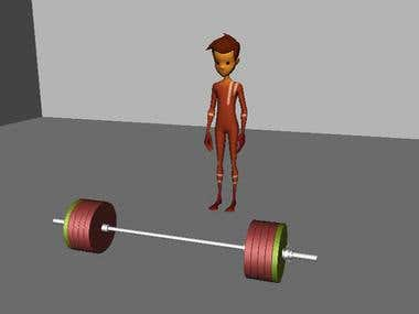 Weight Lift animation