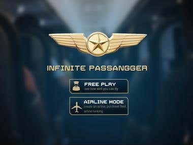 app design for game infinity flight