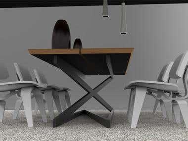 Table leg design