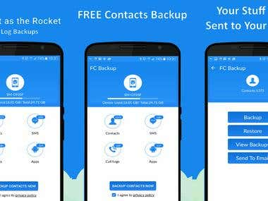 Free Contacts Backup - Android App