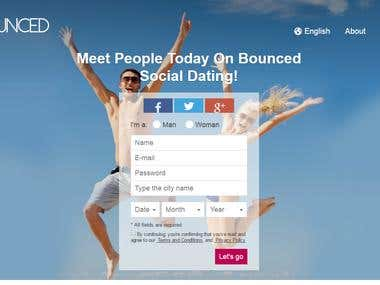 Bounced Dating Website with Android & Iphone