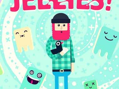 Mobile game for iOS Jellies