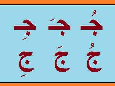 Arabic Tashkel (Vowel markers, harakat)