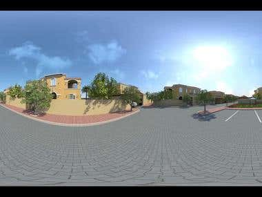 3D 360 Animation Rendering