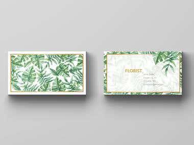 Florist - business card