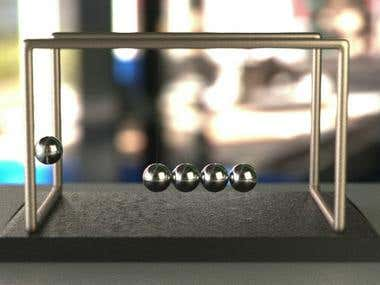 Newton's Cradle - Simple Animation