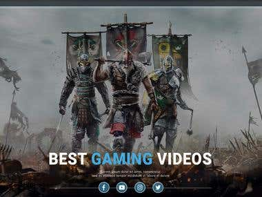 Gaming Site PSD to HTML