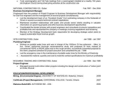 Engineering Resume Page 2