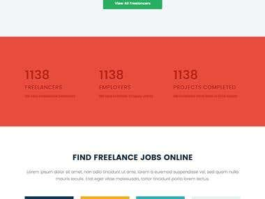 Freelancer Type Design bootstrap and wp