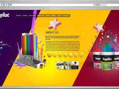 Corporate Paints Website in Wordpress