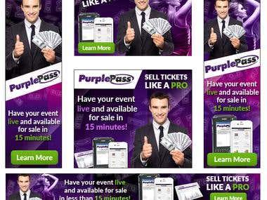 Banner set for purpleticket