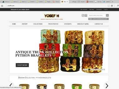 My client wants to build an e-commerce website which is mobi