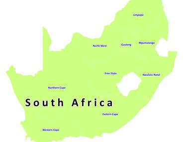 Map for South Africa