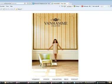 Vanhamme website