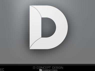 D logo concept