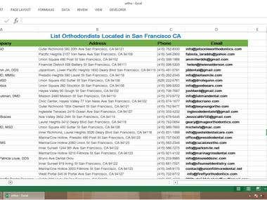 Search for Leads of Orthodontists in San Francisco, CA