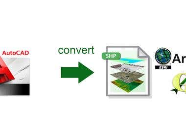 Convert AutoCAD files to Shapefiles (ESRI, QGIS)