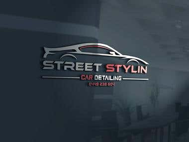 Street Stylin Car Detailing logo design.