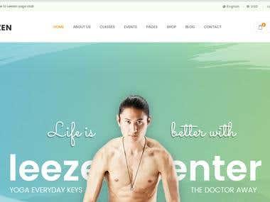 Leezen - Exclusive Yoga Center HTML5 Template | Homepage